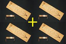 4 x Flammlachs Brett Solja Edelstahl für TUNDRA GRILL Flammlachsbrett 60cm BBQ