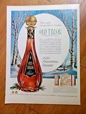 1956 Old Taylor Whiskey Ad  Presentation Decanter