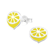 Sterling Silver Novità 925 Orecchini a Perno Frutta Limone