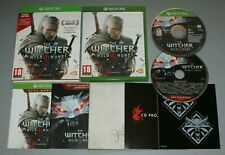 The Witcher 3 Wild Hunt-Microsoft XBOX Juego + Mapa Pegatinas One Soundtrack Cd