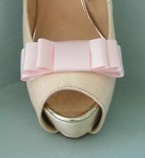 2 Baby Pink Triple Bow Clips for Shoes - other colours on request