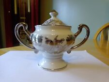 NORCREST FINE CHINA 25th ANNIVERSARY SUGAR BOWL AND COVER