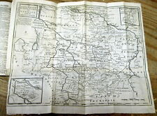 <1761 newspaper LARGE John Gibson FOLD-OUT MAP OF Bremen & VERDEN Germany