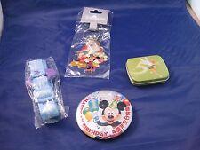 Disney Assorted 4 Piece Assorted Lot From Hong Kong Disneyland