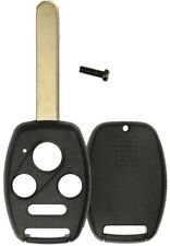2 Honda Replacement Remote Key Keyless Fob Case Uncut Blade Shell No Chip Holder
