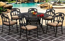 New 7 piece patio dining set Cast Aluminum Garden Furniture Outdoor - PALM TREE