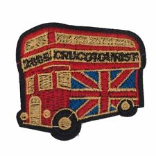 London Bus Union Jack (Sew On) Embroidery Applique Patch Sew Iron Badge