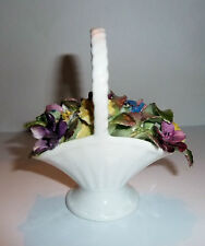 Flower Group Figurine GOLDEN CROWN Bone China 1970s Basket w. Multi Colors
