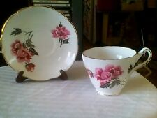 Regency Bone China Cup and Saucer Duo Vintage England Floral