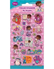 Paper Projects DOC MCSTUFFINS  Sparkle re-usable Foil Craft Stickers Age 3 +
