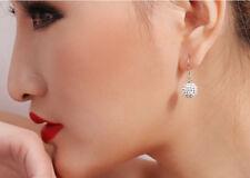 Ladies 925 SILVER SHAMBALLA Ear Stud Earring Ear Jewelry Ear Pendants Rhinestone