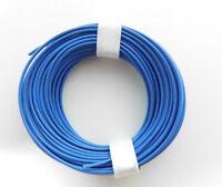 (0,135€/m) 10 m Litze/Kabel BLAU z.B. für Märklin H0 Modellbahn oder N, TT etc.