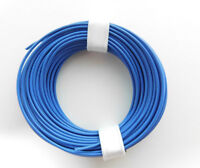 10 m Litze/Kabel BLAU z.B. für Märklin Spur H0 Modellbahn oder N, TT etc.