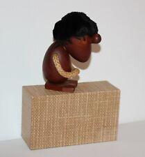 Hans Bolling Orskov & Co. Denmark Teak Wood Art Figurine Original Box Signed MCM