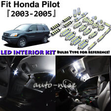 16x White LED Interior Lights Package Kit For 2003 2004 2005 Honda Pilot