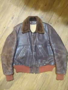 Vintage Genuine Horsehide Men's Jacket by Fidelity w/ Fur Collar