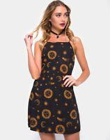 MOTEL ROCKS  Sello Slip Dress in Celestial Black Small S  (mr95)