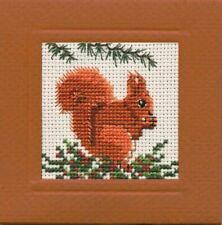 Red Squirrel Miniature Card Cross Stitch Kit (Textile Heritage)