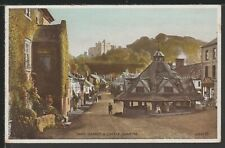 Yarn Market & Castle Dunster Somerset Vintage Postcard