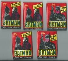 Lot 5 New Packs 1989 Topps BATMAN SERIES 2 Non Sport Card Collection Liquidation