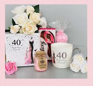 LADIES 40th BIRTHDAY PAMPER HAMPER GIFT SET BOX HER BIRTHDAY FRIEND DAUGHTER MUM