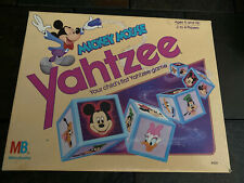 Vintage Mickey Mouse Yahtzee Milton Bradley Game Complete 1988 Great Condition!