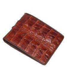 Genuine Crocodile Alligator Skin Leather Men's Bifold Wallet