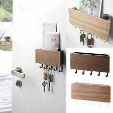 Wood Wall Hanging Shelf Key Rack Sundries Storage Box Organizer Decorative l