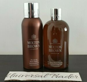 Molton Brown Re-charge Black Pepper Bath & Shower Gel 300ml + Deodorant 150ml