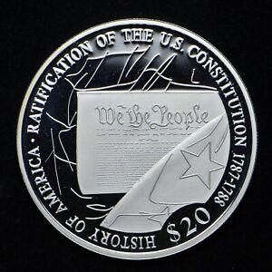 2006 Liberia 20 Dollars .999 Silver Proof (bb5736)