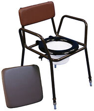Aidapt Norfolk Height Adjustable Chemical Commode Chair With Pail Lid and Seat