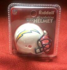 Lot of 3 Riddell pocket pro football helmets San Diego Chargers revolution