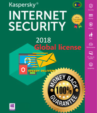 KASPERSKY INTERNET SECURITY 2018 5 Devices /1 YEAR  Windows/Mac/Android Big SALE