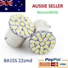 2pcs 24V 1156 BA15S 22SMD LED WHITE Truck Clearance Park Light Globe Lamp Bulb