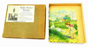 """Antique MOLLY PITCHER PUZZLES """"Friend or Foe"""" wooden jigsaw puzzle with box"""