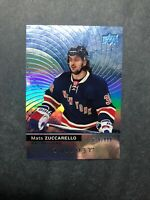 2017-18 UD Upper Deck Trilogy Blue #6 Mats Zuccarello 625/999 New York Rangers