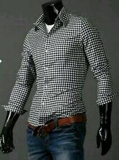 Camicia Uomo Manica Lunga Slim Cotone Comfort  S M L XL XXL  MODELLO QUADRI.