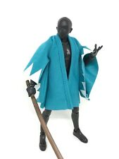 MY-SG2-G: FIGLot 1/12 Japanese Style Fabric Robe for Figma, SHF figures - Green