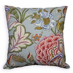 LF342a Lt.Grey Sky Blue Red Sand Mustard Olive Cotton Canvas Cushion/Pillow Case