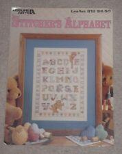 Leisure Arts cross stitch chart notice piqueuse's Alphabet Sampler Teddy Bears