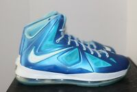 Nike Lebron X + Sport Pack Diamond Blue Sz 10 DS W Receipt KC Royals