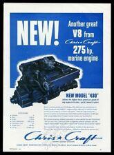 1959 Chris-Craft 430 boat marine engine photo vintage print ad