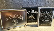 Official Jack Daniels Playing Cards In Silver Tobacco Tin From 2007