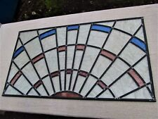 Newly crafted Traditional Stained Glass Window Panel 813mm by 451mm SUNBURST