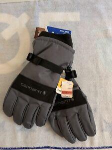 Carhartt Men's W.P. Waterproof Insulated Glove, dark grey/black, XL NEW