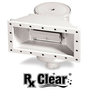Rx Clear WideMouth Thru-Wall Skimmer for Above Ground Swimming Pools