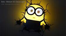 正版 Despicable Me壞蛋掌門人Minions Bob LED 3D牆燈