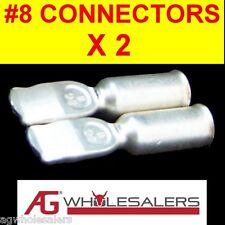2 X #8 ANDERSON PLUG 50 AMP CONTACTS TERMINALS CRIMPS CONNECTOR-12V DUAL BATTERY