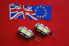 2 x G4 9SMD 5050 12Volt Warm White LED Bulbs  - Genuine UK Stock