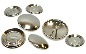 Round Metal Self Cover Buttons Professional Or DIY 15mm 19mm 23mm 29mm 38mm